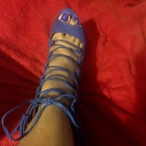 "Stylish 3"", lace up sandals"